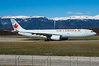 Air Canada C-GFUR Airbus A330-343 Geneva Int'l - LSGG