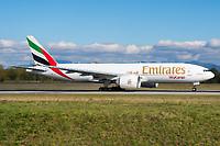 Emirates SkyCargo A6-EFS Boeing 777-F1H Basel/Mulhouse EuroAirport - LFSB