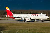 Iberia EC-LRG Airbus A320-214 Geneva Int'l - LSGG