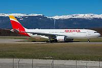 Iberia EC-MIL Airbus A330-202 Geneva Int'l - LSGG