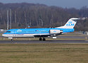 KLM Cityhopper PH-WXA Fokker 70 Luxembourg-Findel - ELLX