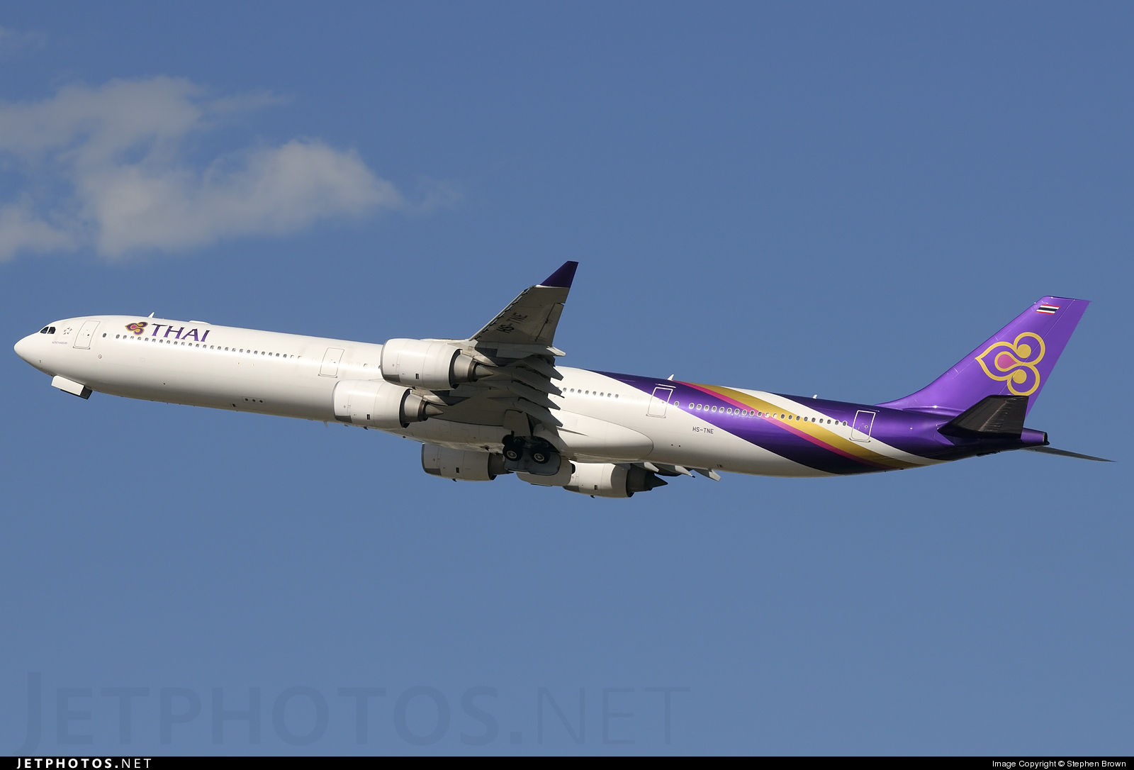 Photo of HS-TNE Airbus A340-642 by Stephen Brown