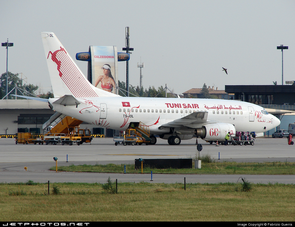 Photo of TS-IOL Boeing 737-6H3 by Fabrizio Guerra
