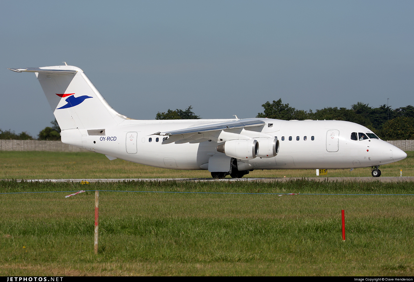 Photo of OY-RCD British Aerospace Avro RJ85 by Dave Henderson