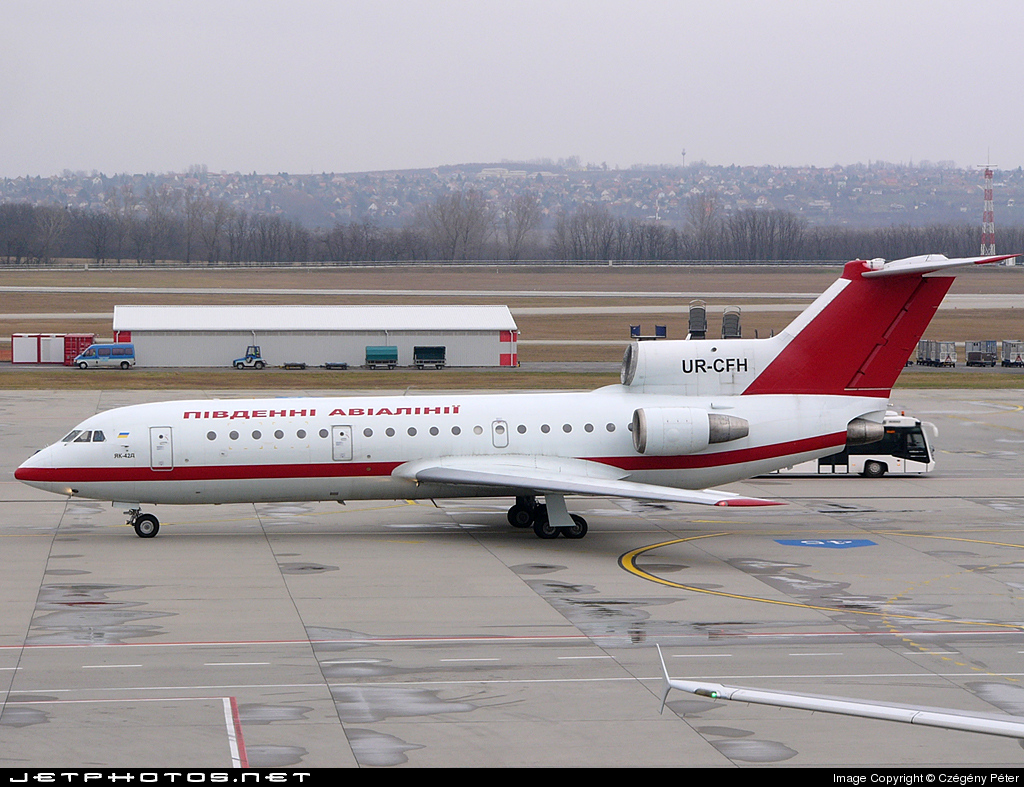 Photo of UR-CFH Yakovlev Yak-42D by Czégény Péter
