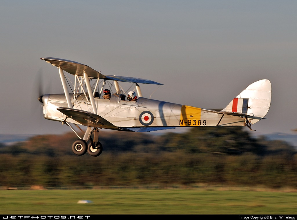 Photo of G-ANJA De Havilland DH-82A Tiger Moth by Brian Whitelegg