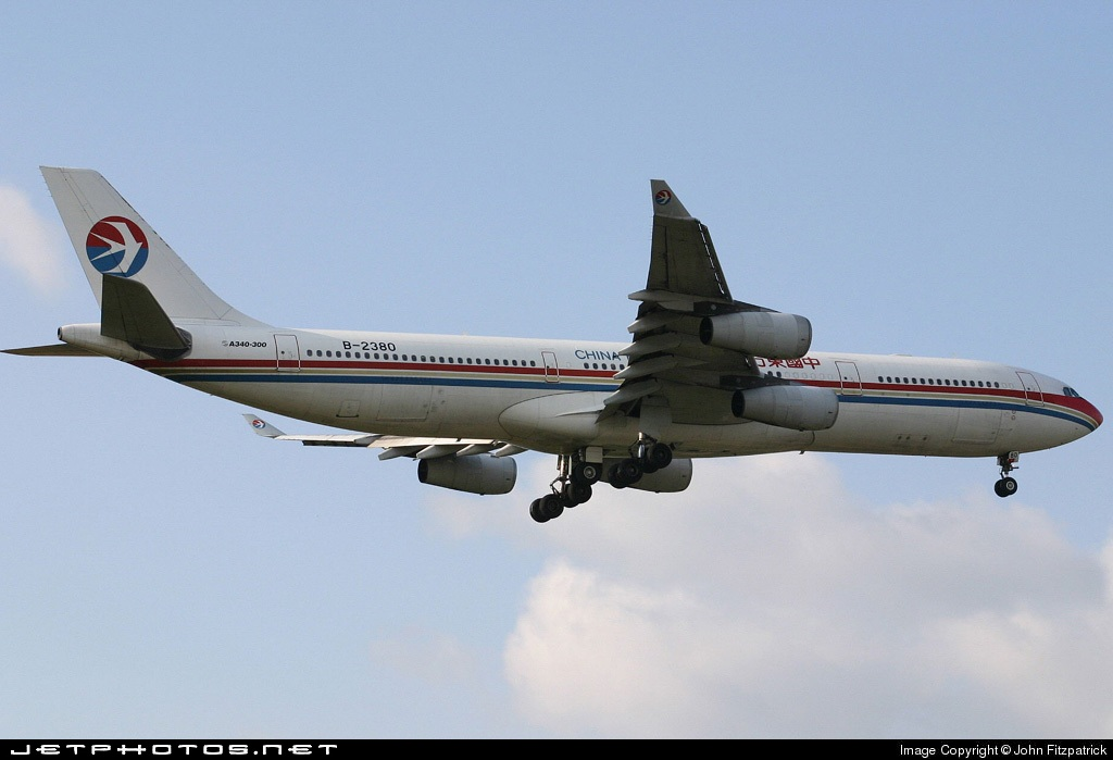 Photo of B2380 Airbus A340-313X by John Fitzpatrick
