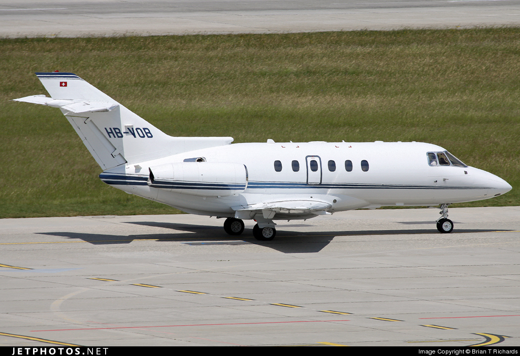 Photo of HB-VOB Raytheon Hawker 800XP by Brian T Richards