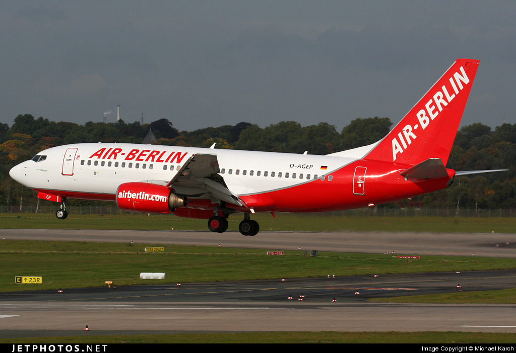 Photo of D-AGEP Boeing 737-75B by Michael Karch
