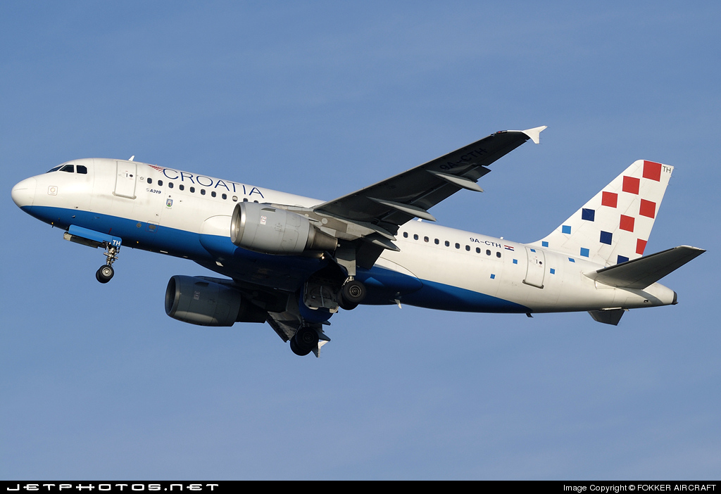 Photo of 9A-CTH Airbus A319-112 by FOKKER AIRCRAFT