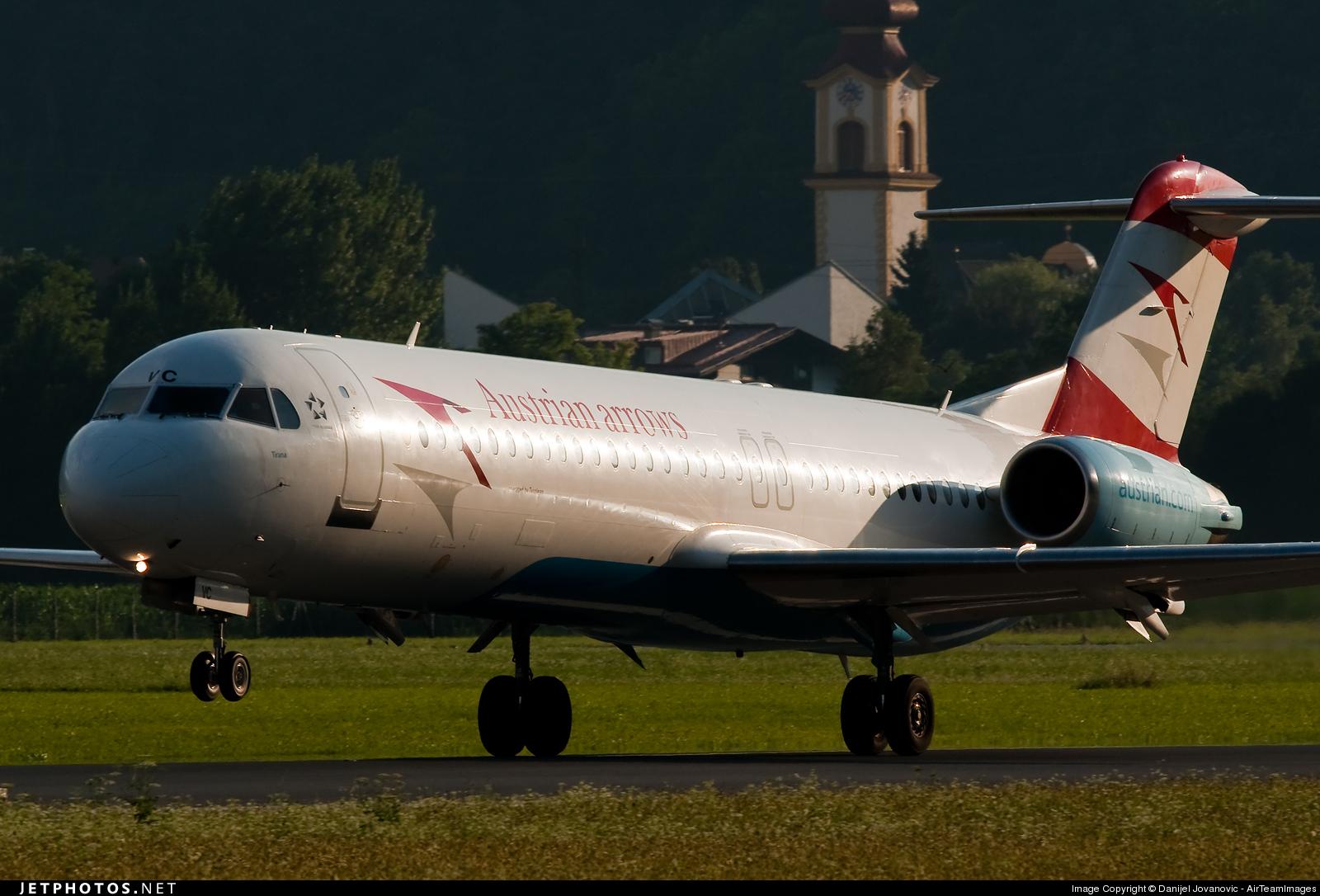 Photo of OE-LVC Fokker 100 by Danijel Jovanovic - AirTeamImages
