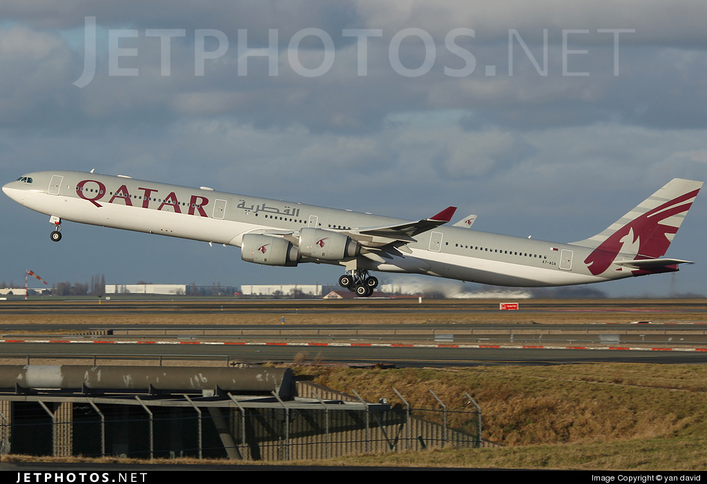 Photo of A7-AGA Airbus A340-642 by yan david