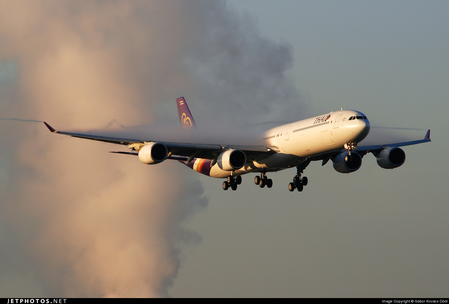 Photo of HS-TNE Airbus A340-642 by Gábor Kovács Dödi