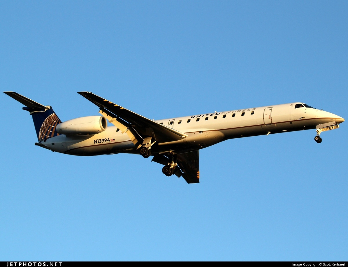 Photo of N13994 Embraer ERJ-145LR by Scott Kerhaert