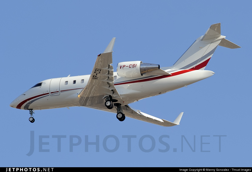 Photo of VP-CSI Bombardier CL-600-2B16 Challenger 605 by Manny Gonzalez - Thrust Images