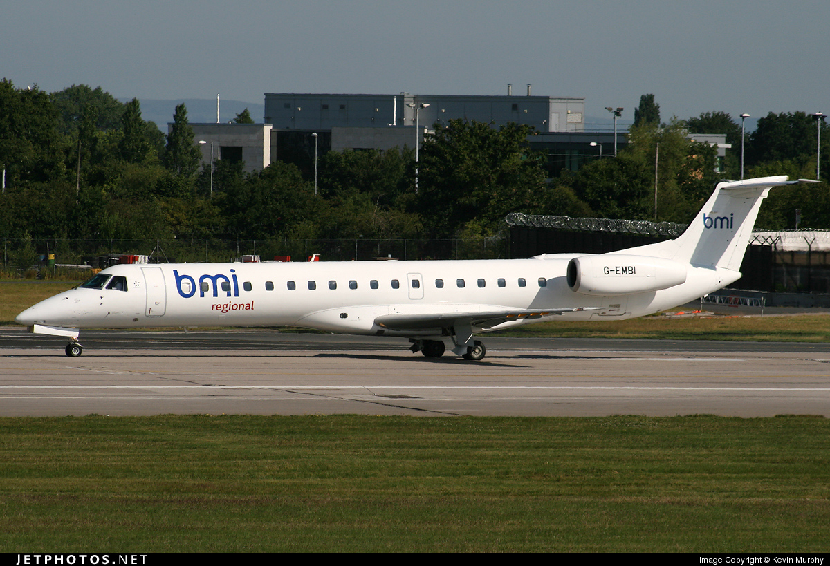 Photo of G-EMBI Embraer ERJ-145EU by Kevin Murphy