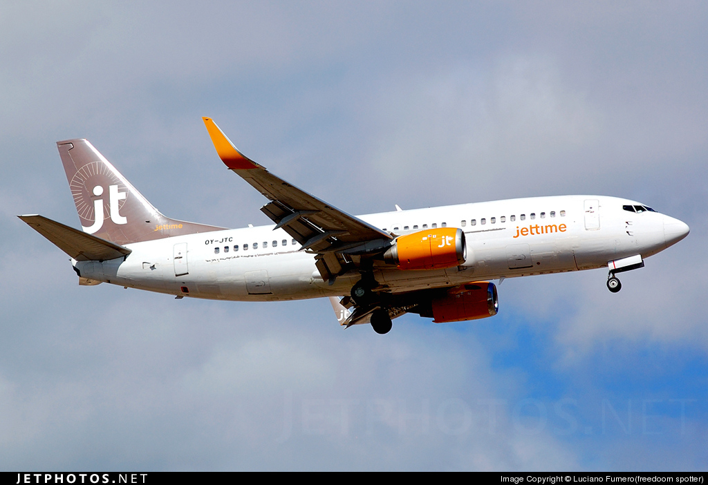 Photo of OY-JTC Boeing 737-3L9 by Luciano Fumero(freedoom spotter)