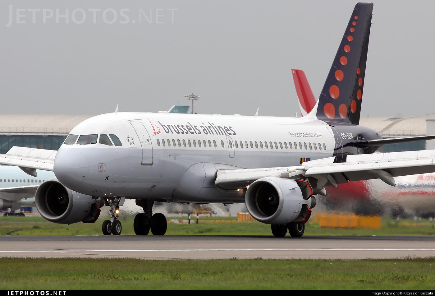 Photo of OO-SSK Airbus A319-112 by Krzysztof Kaczala