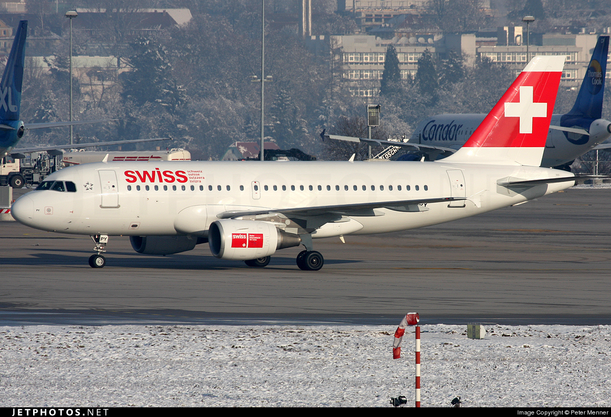 Photo of HB-IPY Airbus A319-112 by Peter Menner