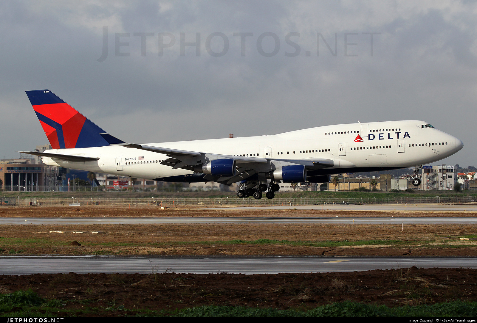 Photo of N671US Boeing 747-451 by 4x6zk-AirTeamImages