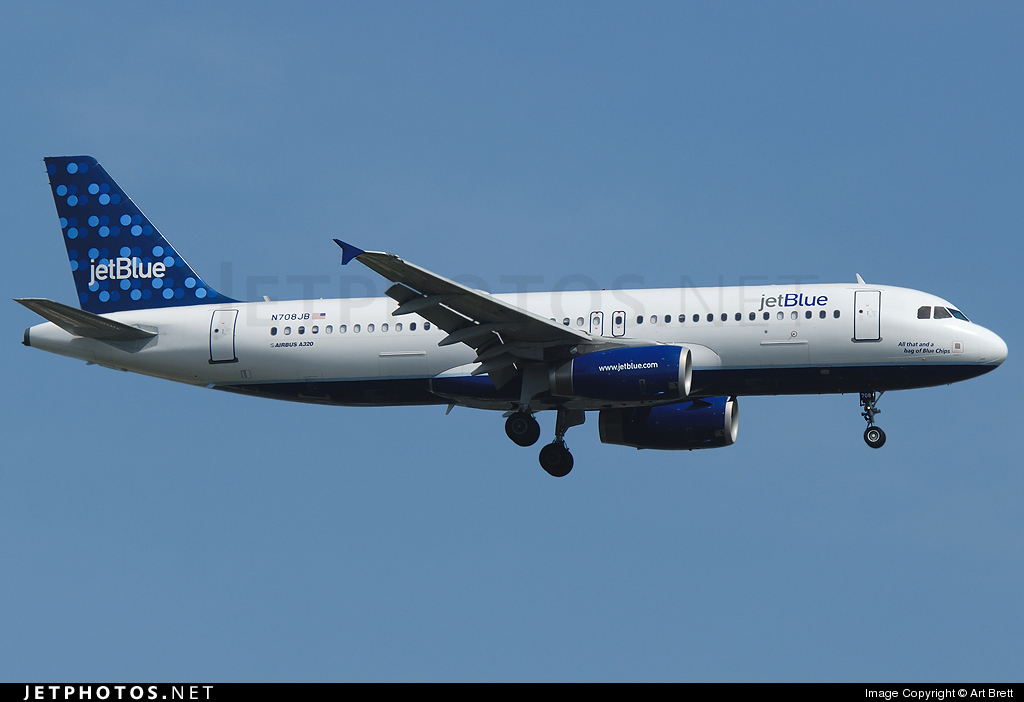 Photo of N708JB Airbus A320-232 by Art Brett