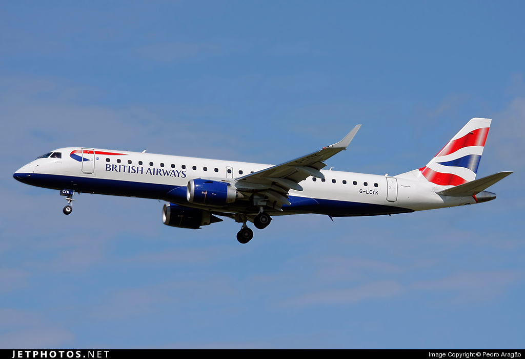 Photo of G-LCYK Embraer 190-100SR by Pedro Aragão