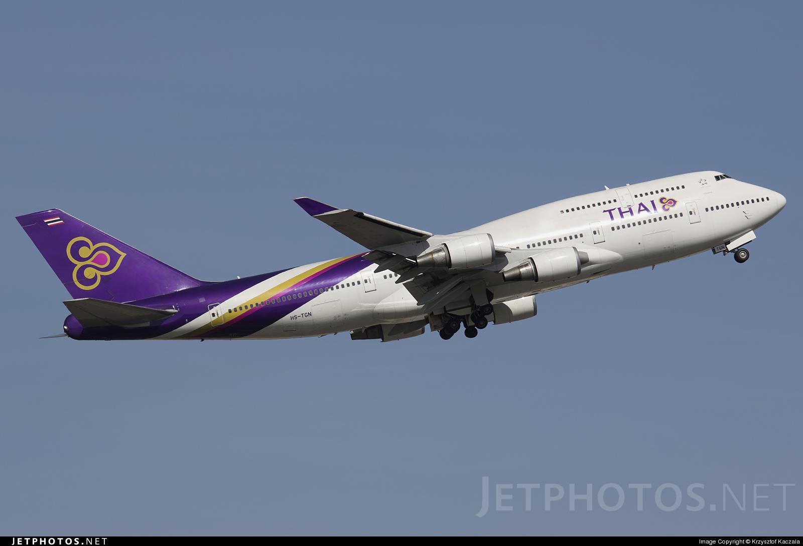 Photo of HS-TGN Boeing 747-4D7 by Krzysztof Kaczala