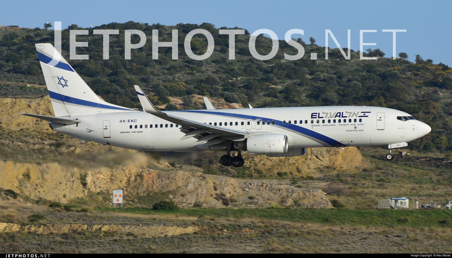 Photo of 4X-EKC Boeing 737-858 by Alex Maras