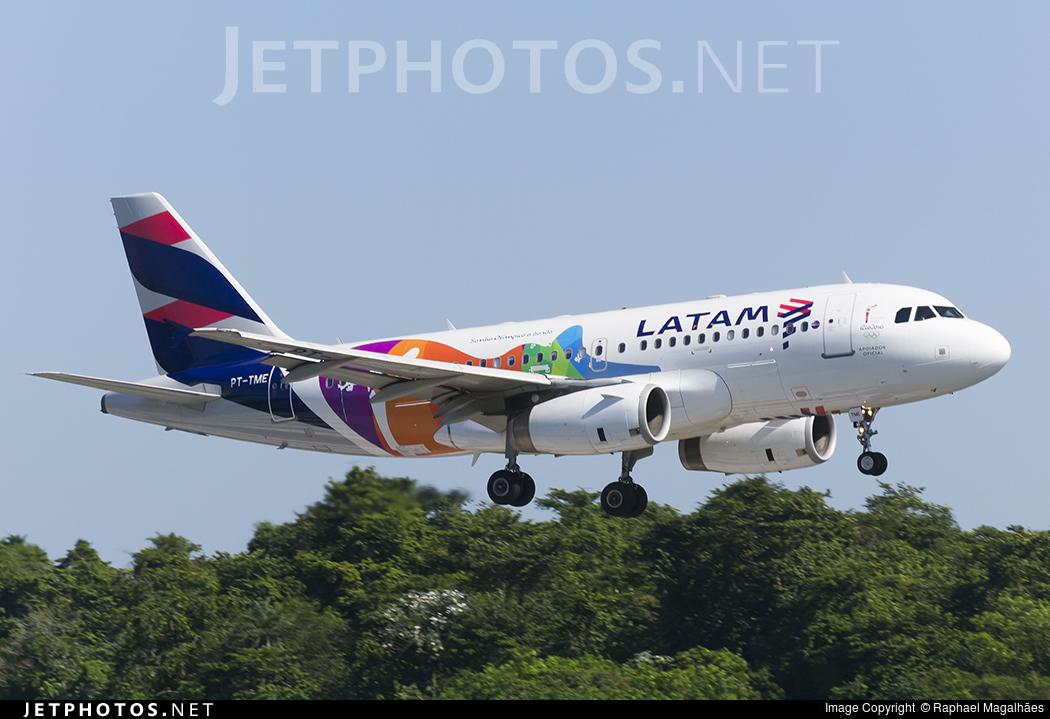 Avião com nova pintura da LATAM trará a tocha olímpica a Cuiabá