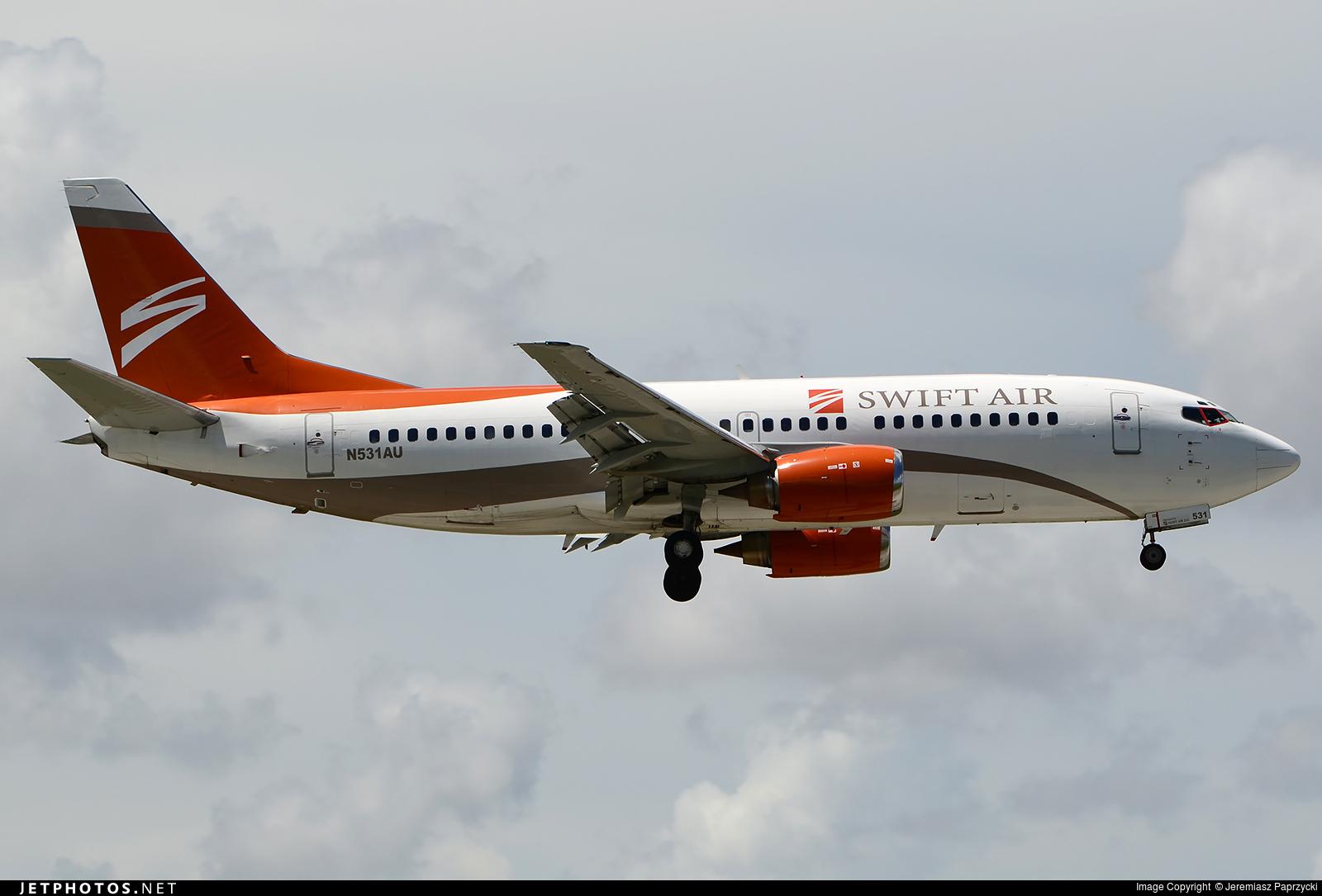 Photo of N531AU Boeing 737-3B7 by Jeremiasz Paprzycki