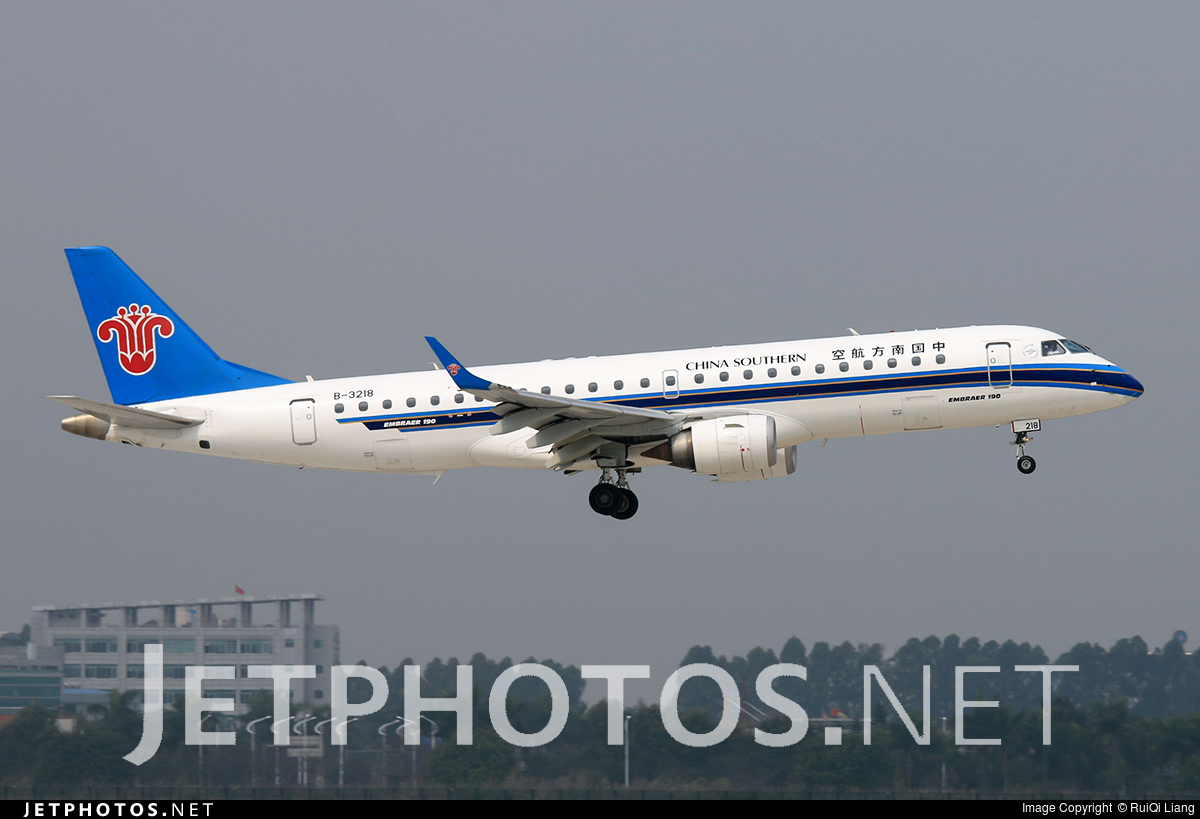 B 3218 embraer 190 100lr china southern airlines - China southern airlines hong kong office ...