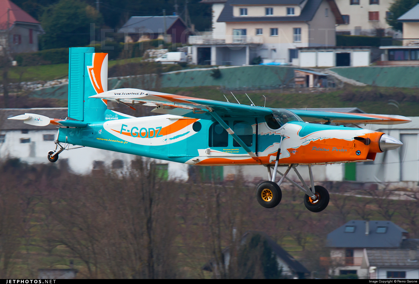 Pilatus PC6 Porter caught at CMF/LFLB on February 28th 2015