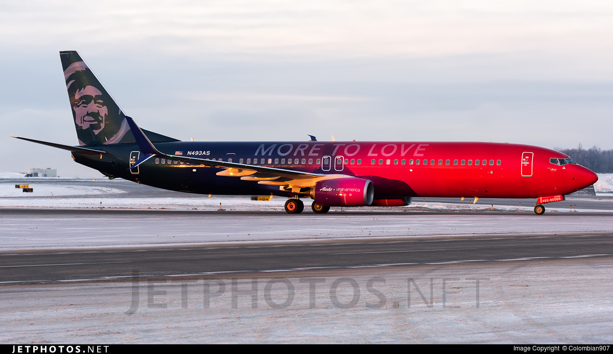 Photo of N493AS Boeing 737-990ER by Colombian907