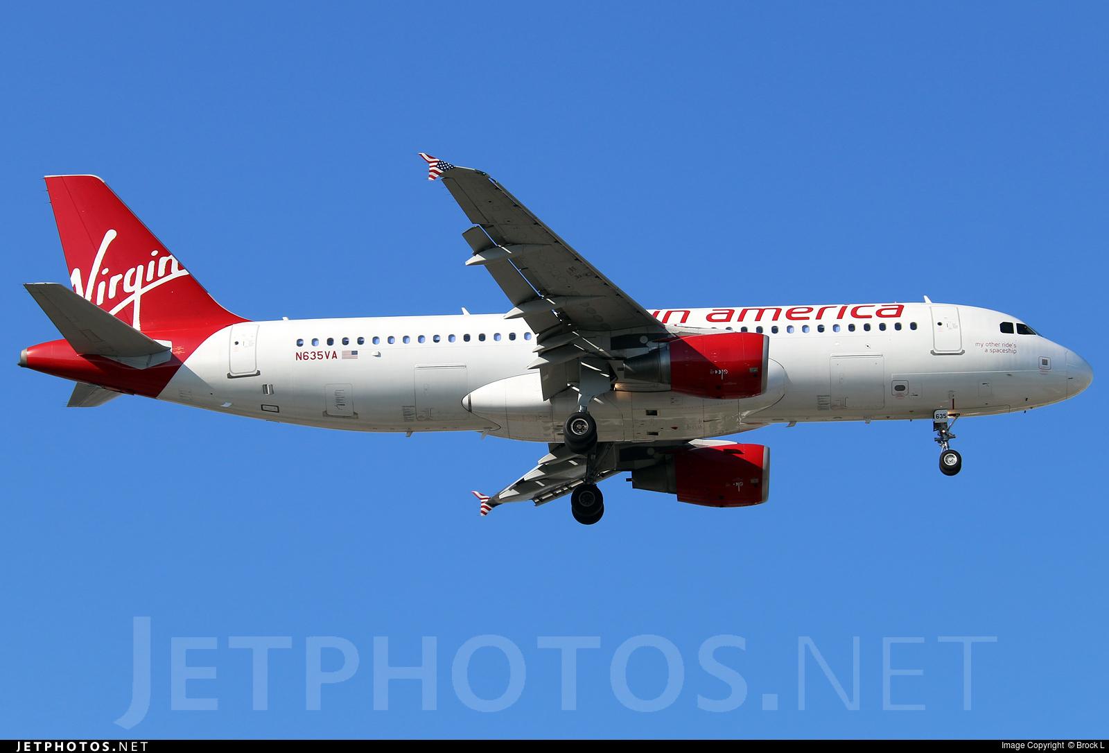 Photo of N635VA Airbus A320-214 by Brock L